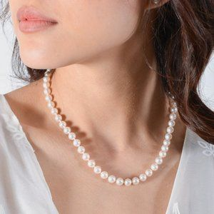 Tiffany Pearl Necklace with Sterling Silver Clasp